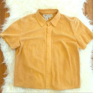 Vintage Leather perforated peach W by Worth top